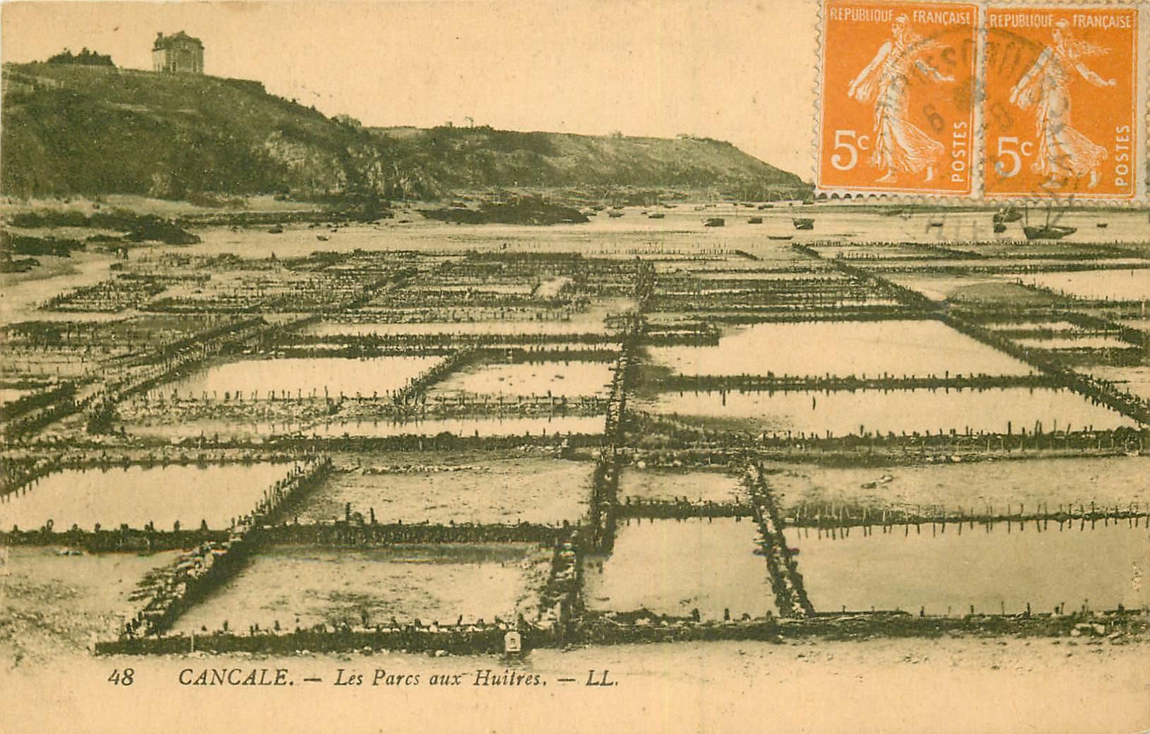 35 CANCALE. Les Parcs aux Huîtres 1922