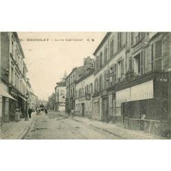 93 BAGNOLET. Boucherie et Coiffeur rue Sadi Carnot 1923