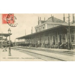 WW 03 COMMENTRY. Train en Gare 1910