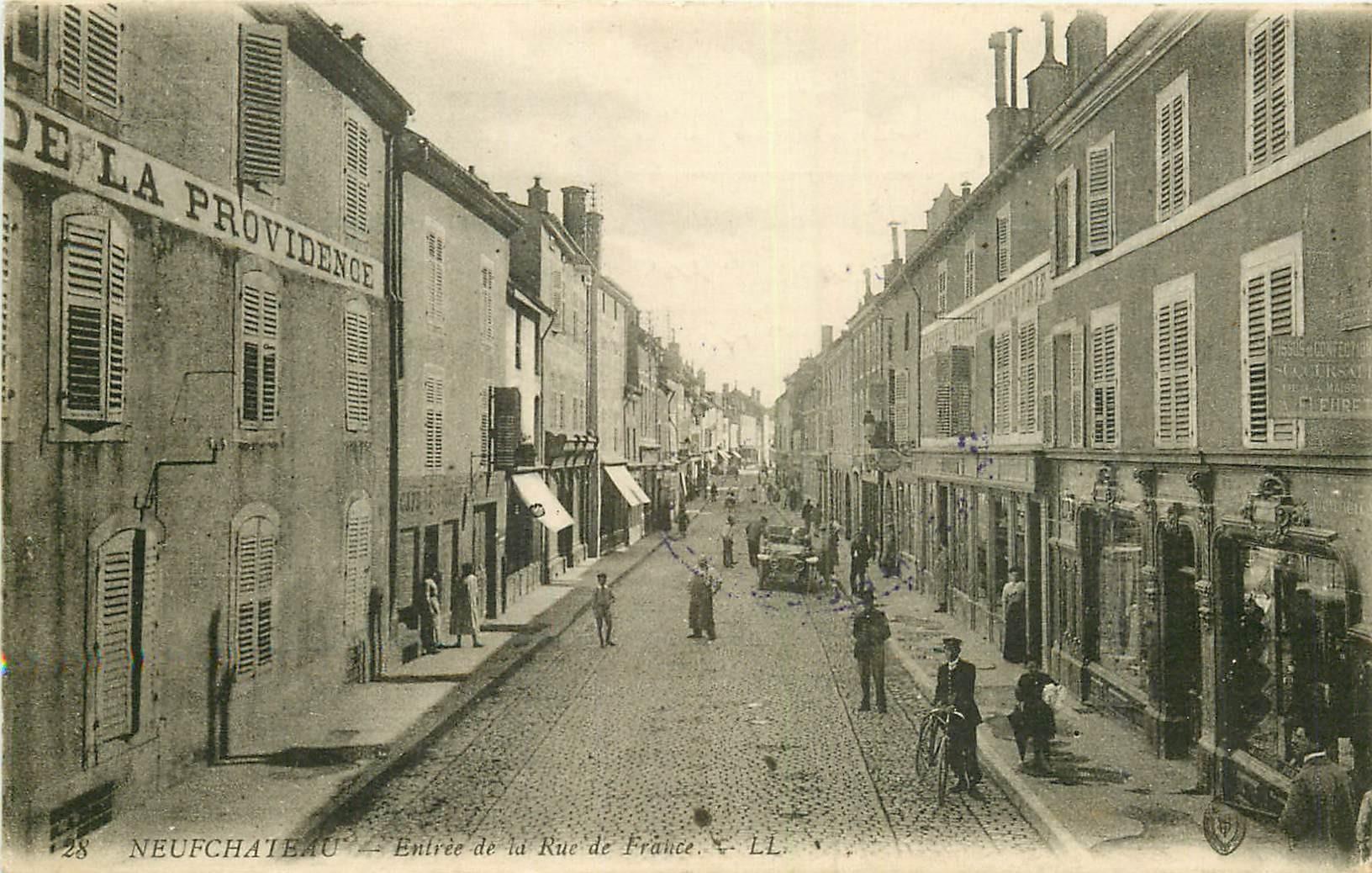 WW 88 NEUFCHATEL. Hôtel rue de France 1916