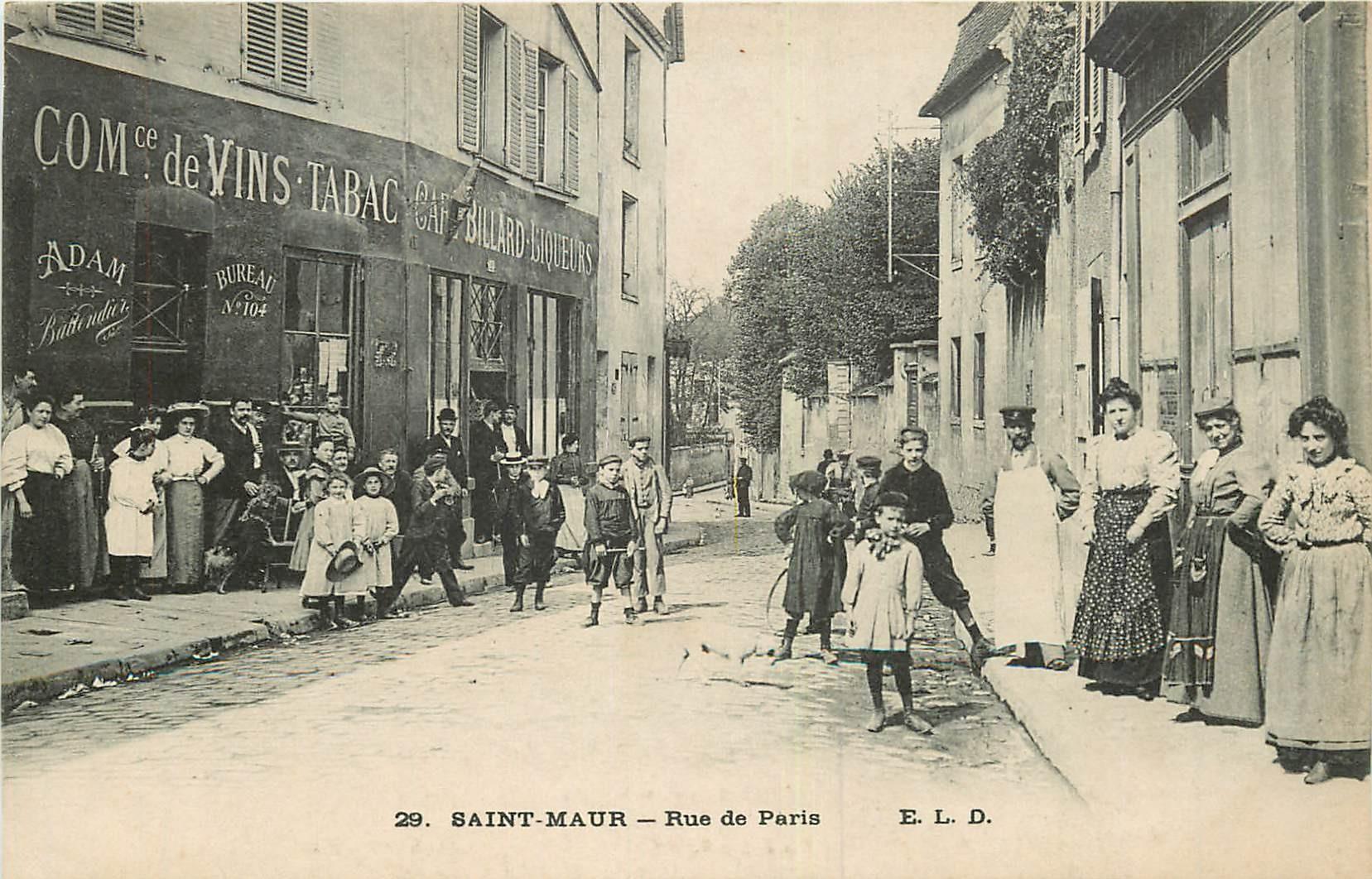 WW 94 SAINT-MAUR. Tabac Adam rue de Paris 1916