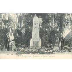 WW 23 CHENERAILLES. Inauguration Monument aux Morts