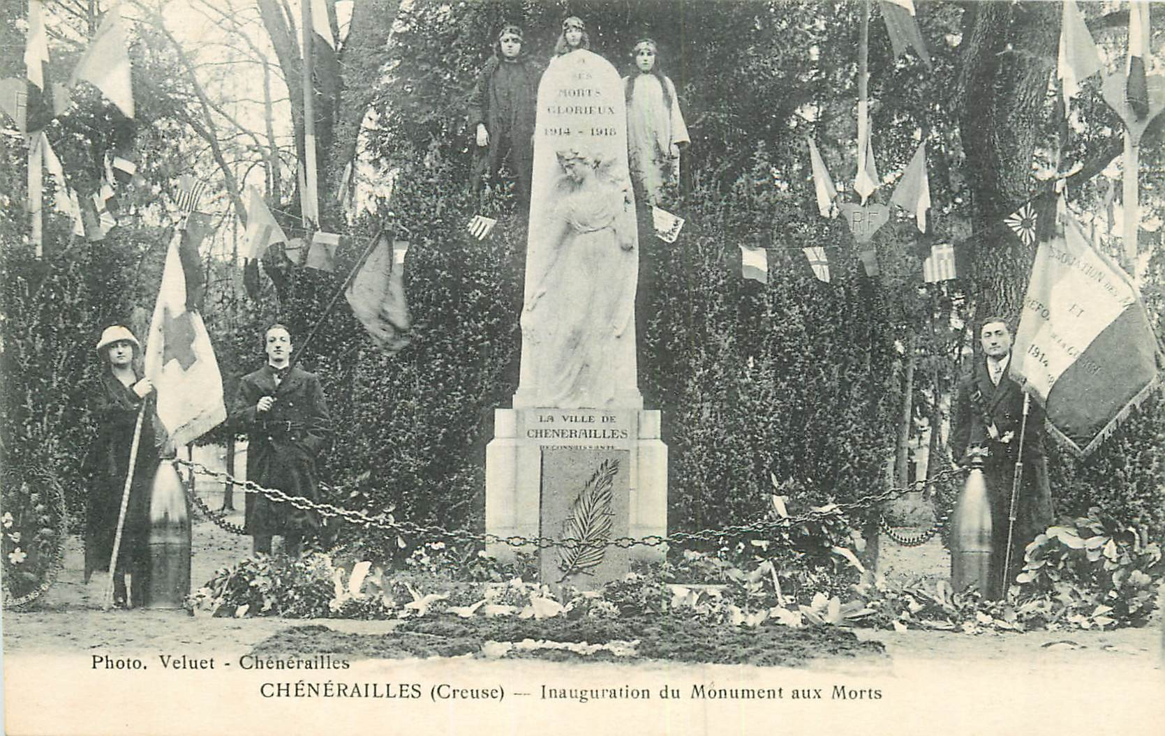 WW 23 CHENERAILLES. Inauguration Monument aux Morts