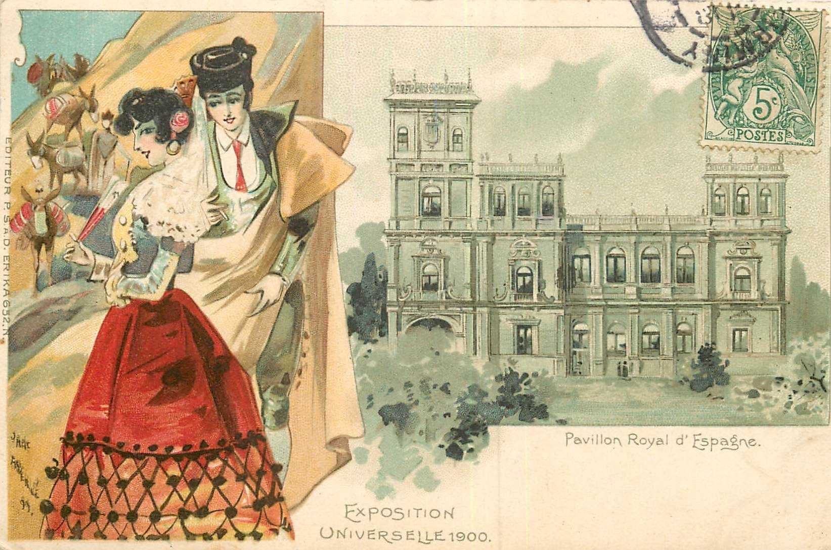 WW Exposition de Paris 1900. Pavillon Royal Espagne