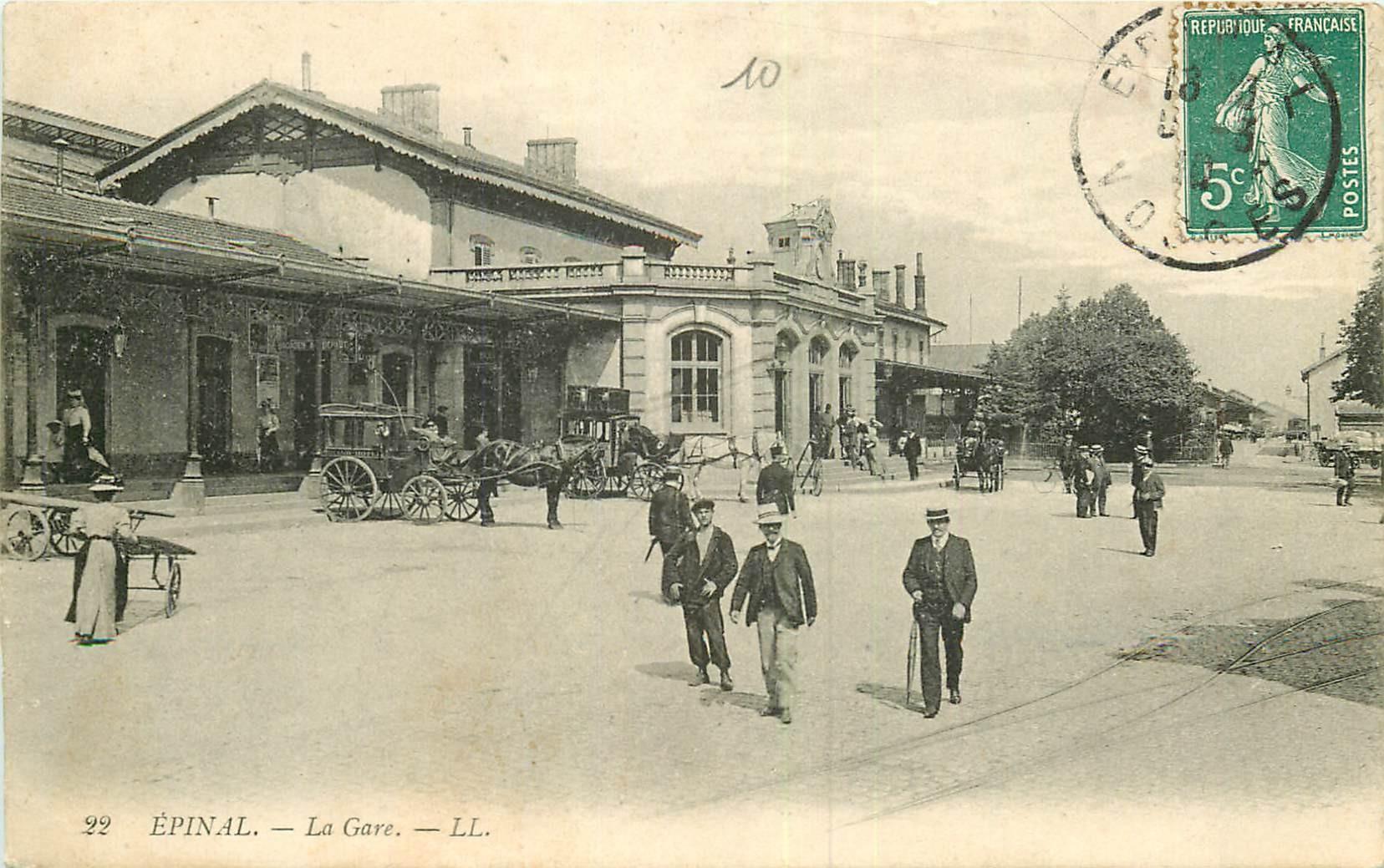 WW 88 EPINAL. La Gare 1910