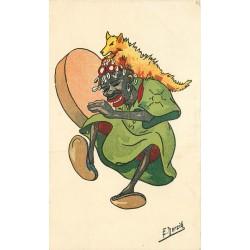 WW Illustrateur Herzig. Musicien Africain 1941