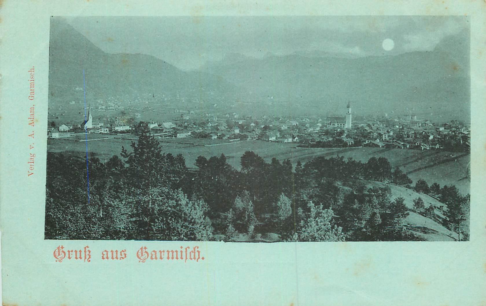 WW ALLEMAGNE. Gruss aus Garmisch vers 1900