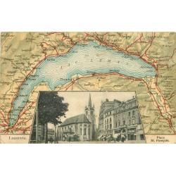 WW SUISSE. Lausanne et plan Lac 1905