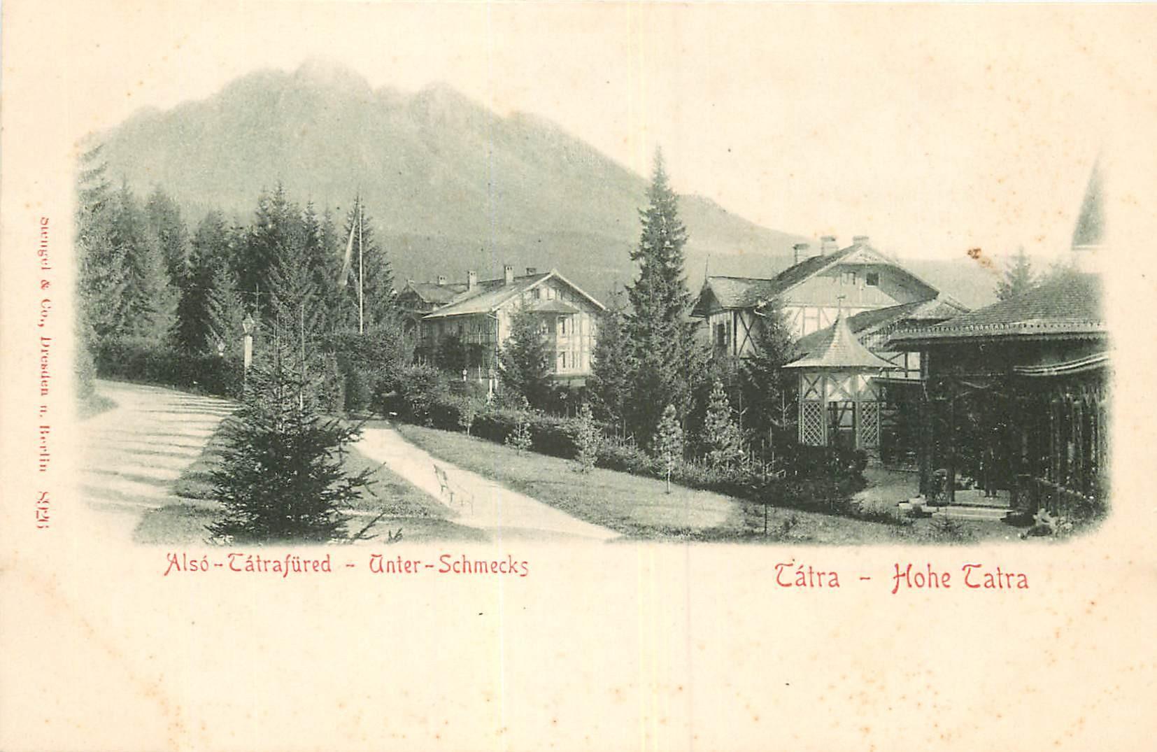 WW SLOVAQUIE. Hohe Tatre vers 1900