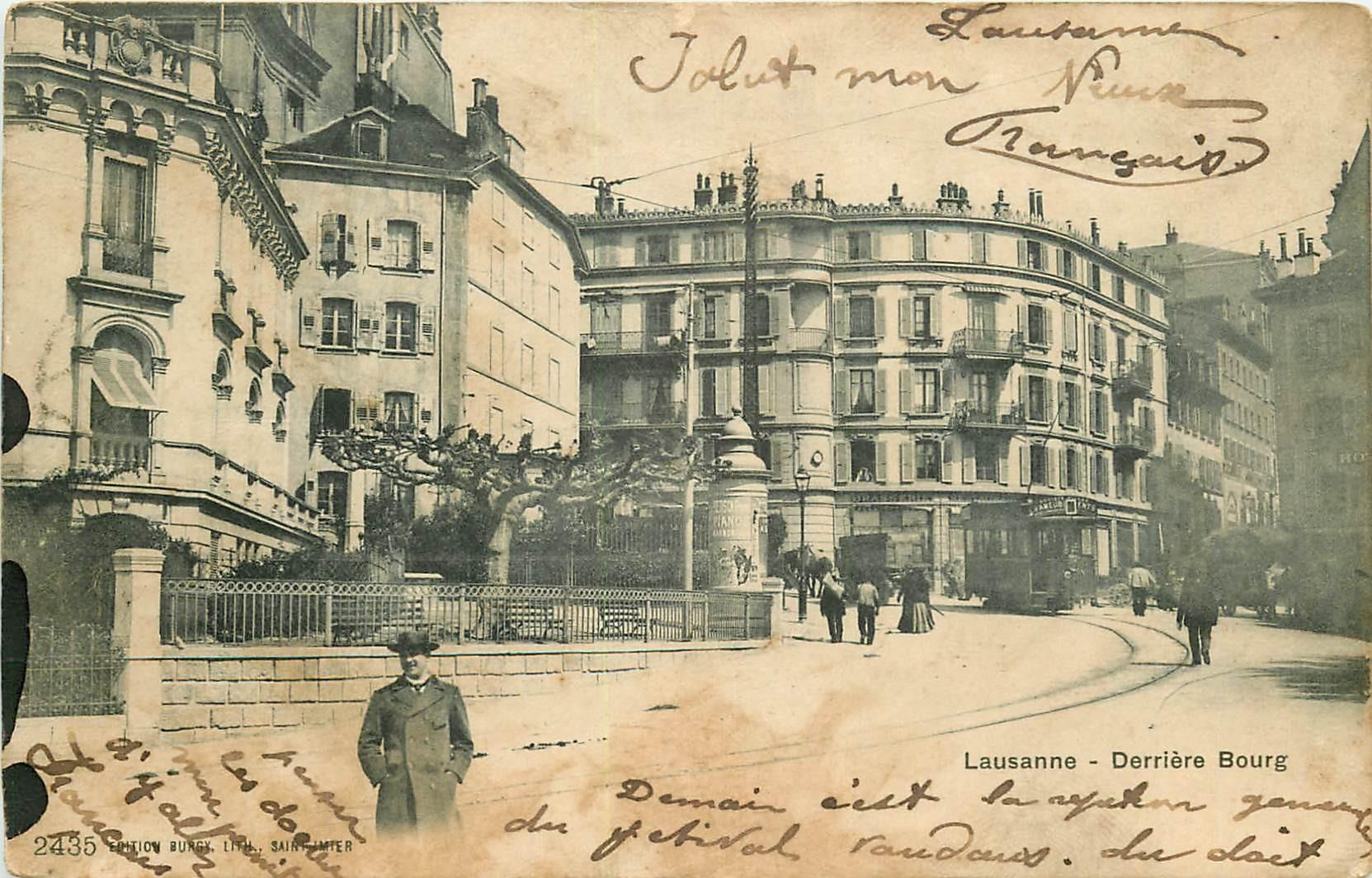 WW LAUSANNE. Derrière Bourg 1903