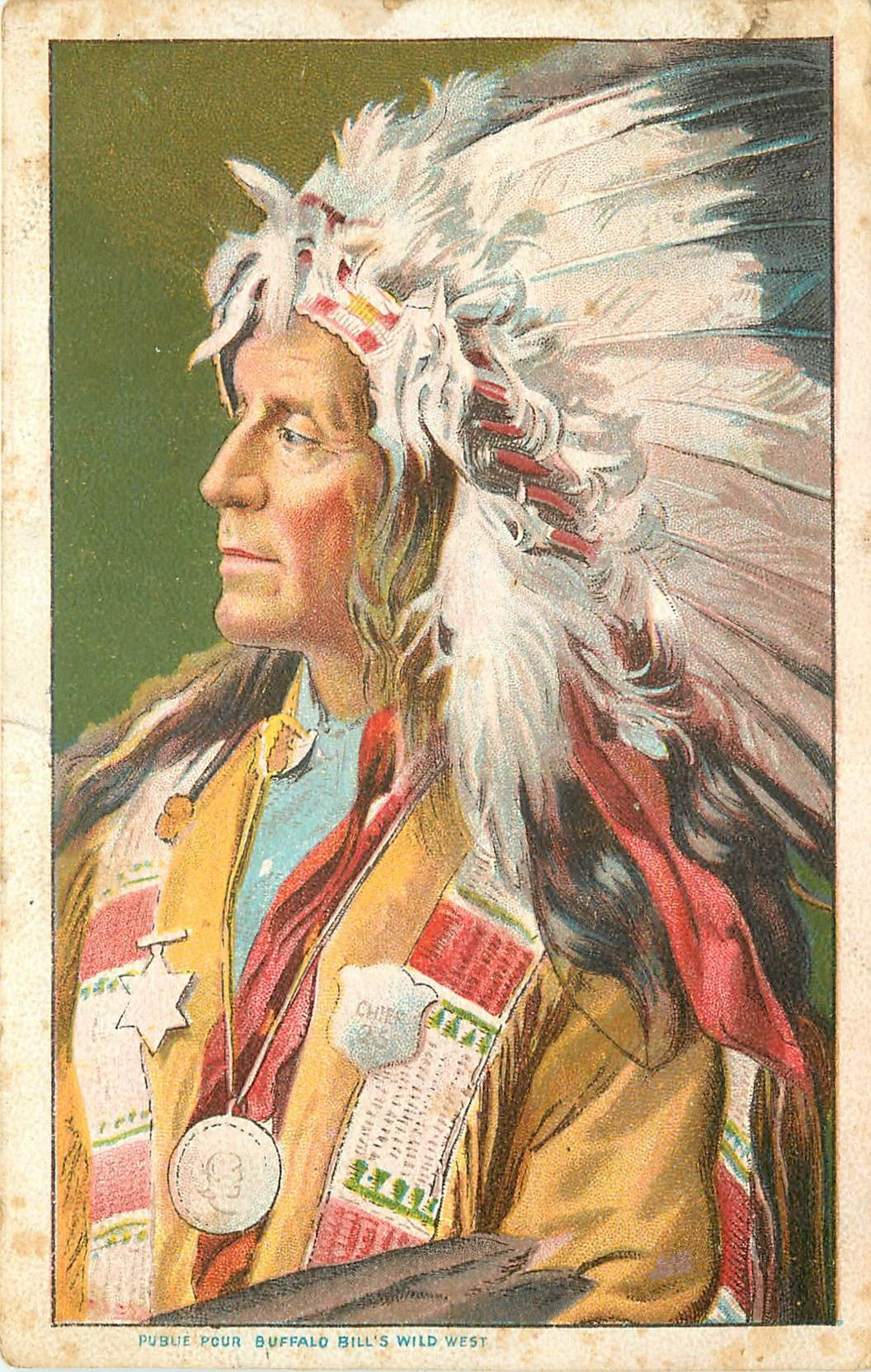 WW Cirque Spectacle. L'Indien par Buffalo Bill's 1905