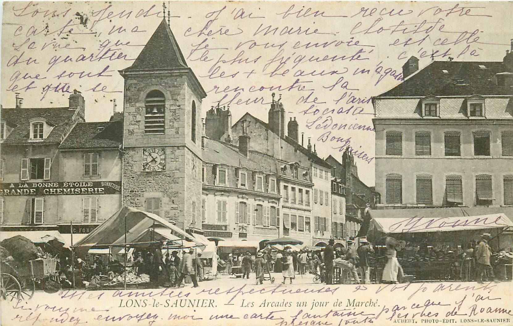 WW LONS-LE-SAUNIER. Le Marché 1905
