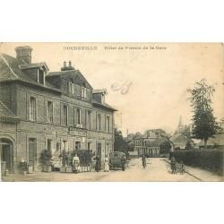 WW 76 DOUDEVILLE. Hôtel de France de la Gare 1917