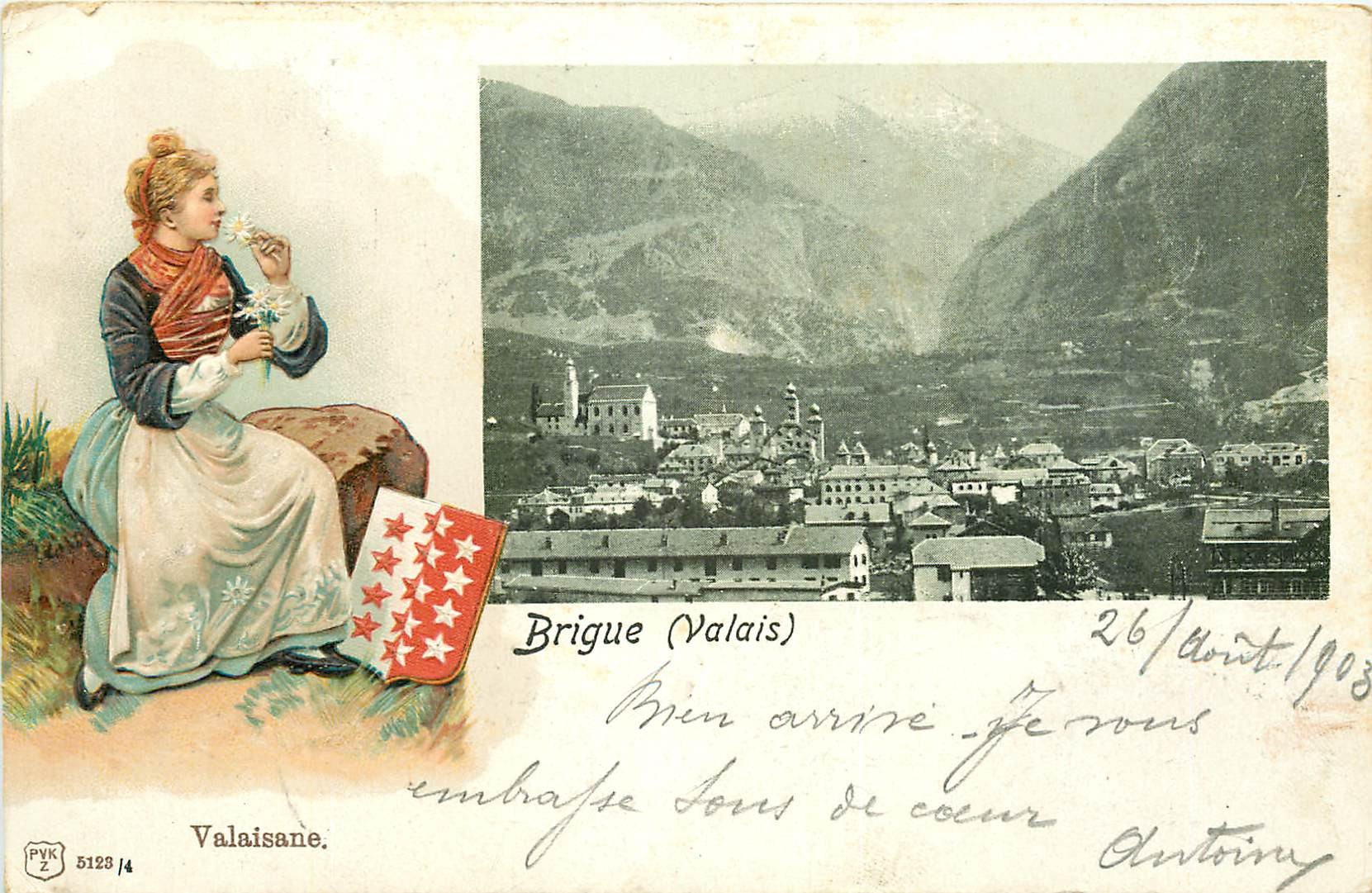 WW BRIGUE. Valaisane en Suisse 1903