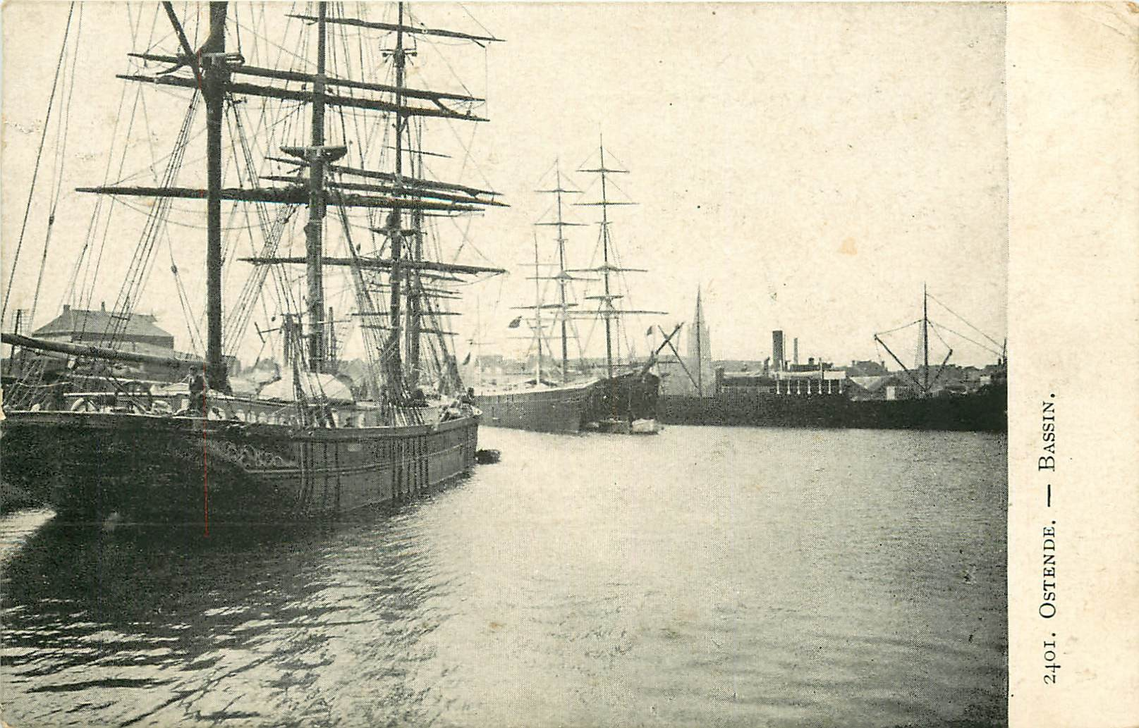 WW OSTENDE. Voiliers dans le Bassin en Belgique