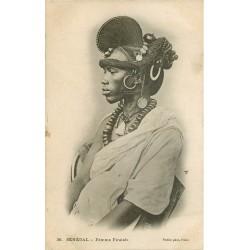 WW SENEGAL. Femme Foulah avec sa coiffure