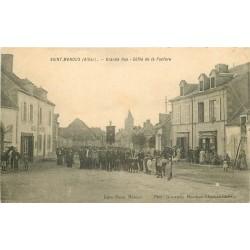 WW 03 SAINT-MENOUX. Défilé de la Fanfare sur Grande Rue