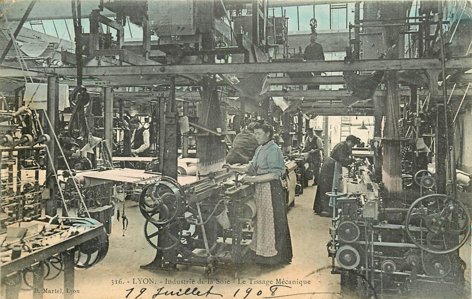 WW 69 LYON. Tissage mécanique Industrie de la Soie 1908