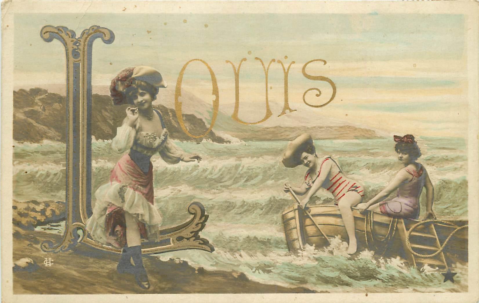 WW Prénom LOUIS en lettres d'Or