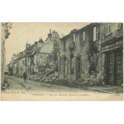 carte postale ancienne 02 SOISSONS. 1914-18 Rue des Minimes 1923