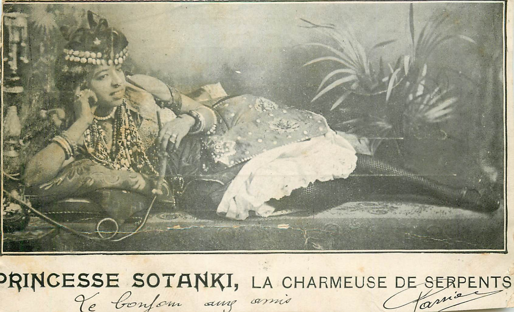 WW CIRQUE. Princesse Sotanki charmause de Serpents