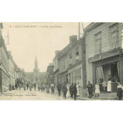 ww 80 AILLY-SUR-NOYE. Boucherie rue Saint-Martin