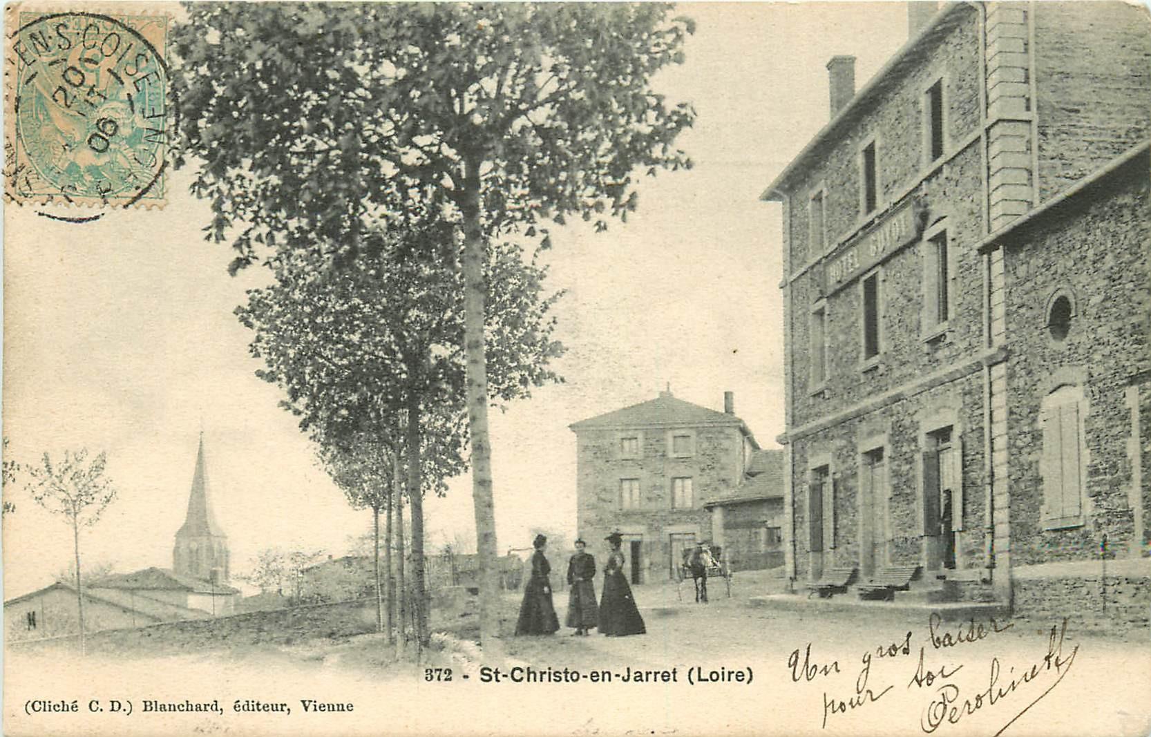 WW 42 SAINT-CHRISTO-EN-JARRET. Hôtel Guyot 1906