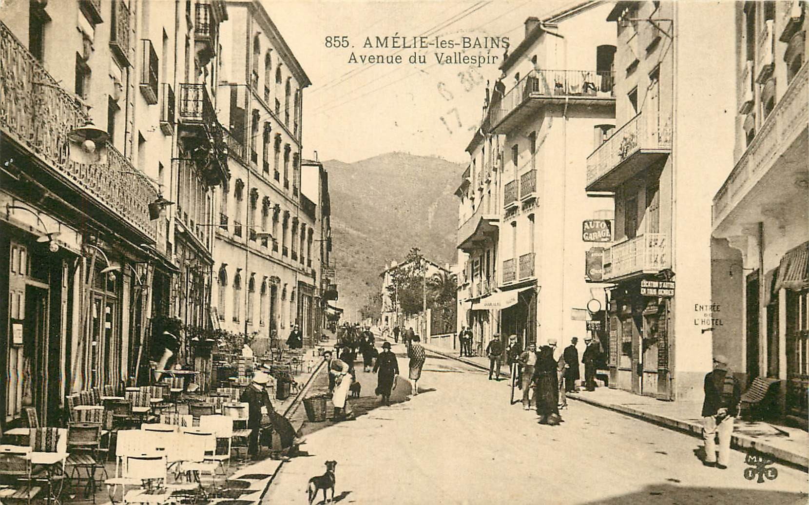 WW 66 AMELIE-LES-BAINS. Terrasses Cafés Avenue du Vallespir 1930