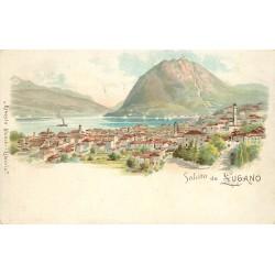 WW SUISSE. Saluto da Lugano vers 1900