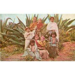 MEXIQUE MEXICO. Pulque Plants and Other Products near Apam