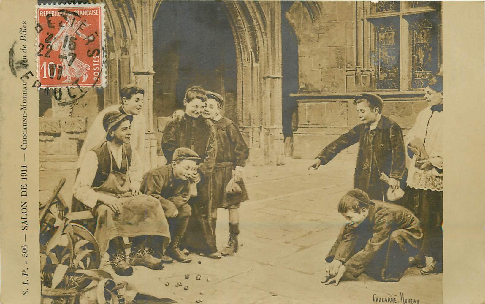 Jeu de Billes par Chocarne-Moreau au Salon de 1911