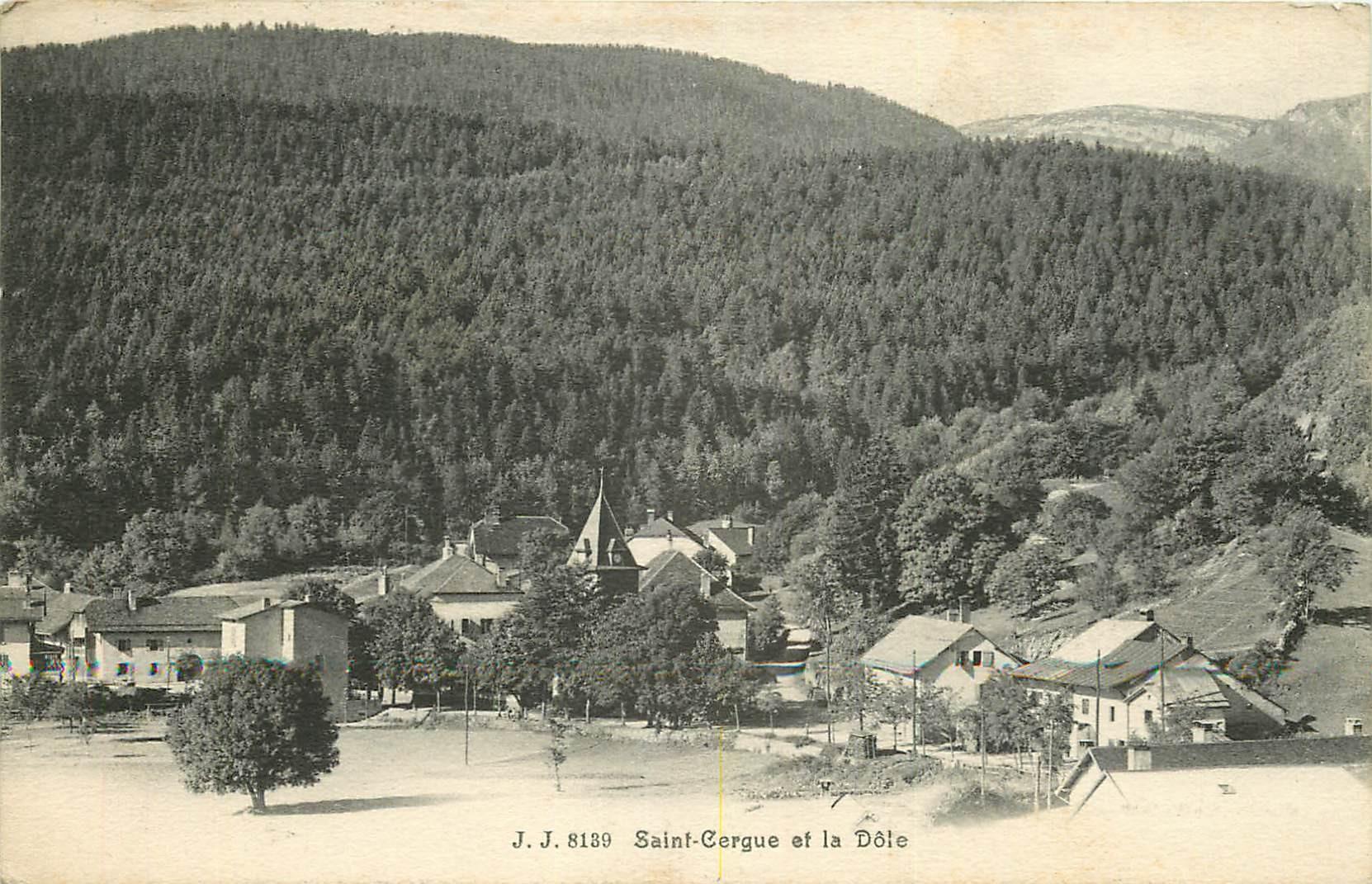SUISSE. Saint-Cergue et la Dôle 1911