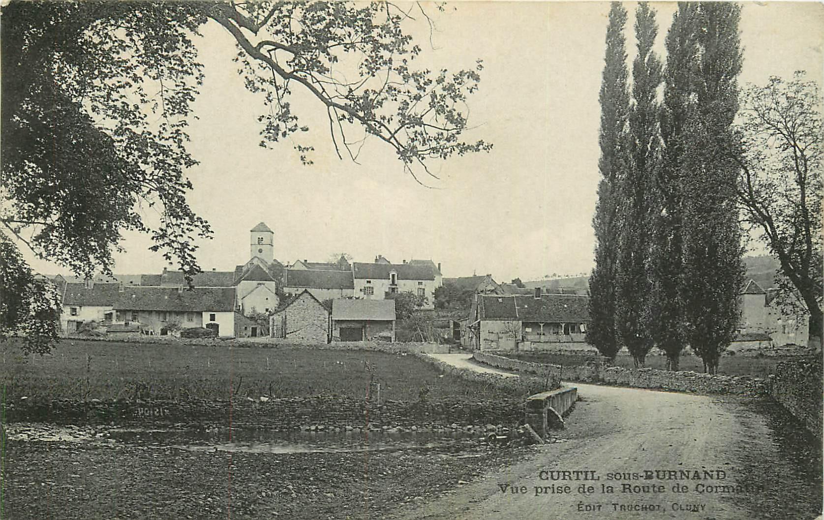 71 CURTIL-SOUS-BURNAND. Route de Cormatin 1912