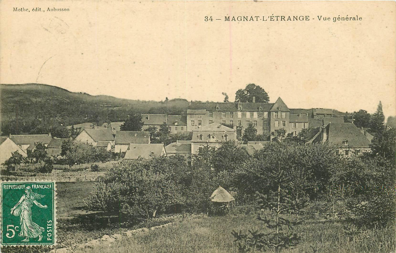 23 MAGNAT-L'ETRANGE. Le Village 1908