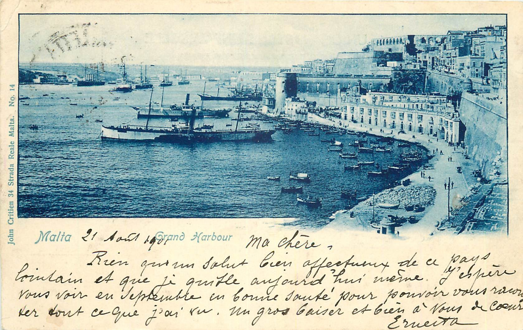 MALTA MALTE. Grand Harbour 1901