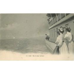 SUISSE. Mouettes sur le Lac Léman vers 1900