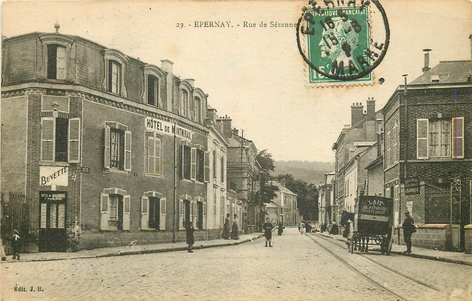51 EPERNAY. Hôtel rue Sézanne 1925