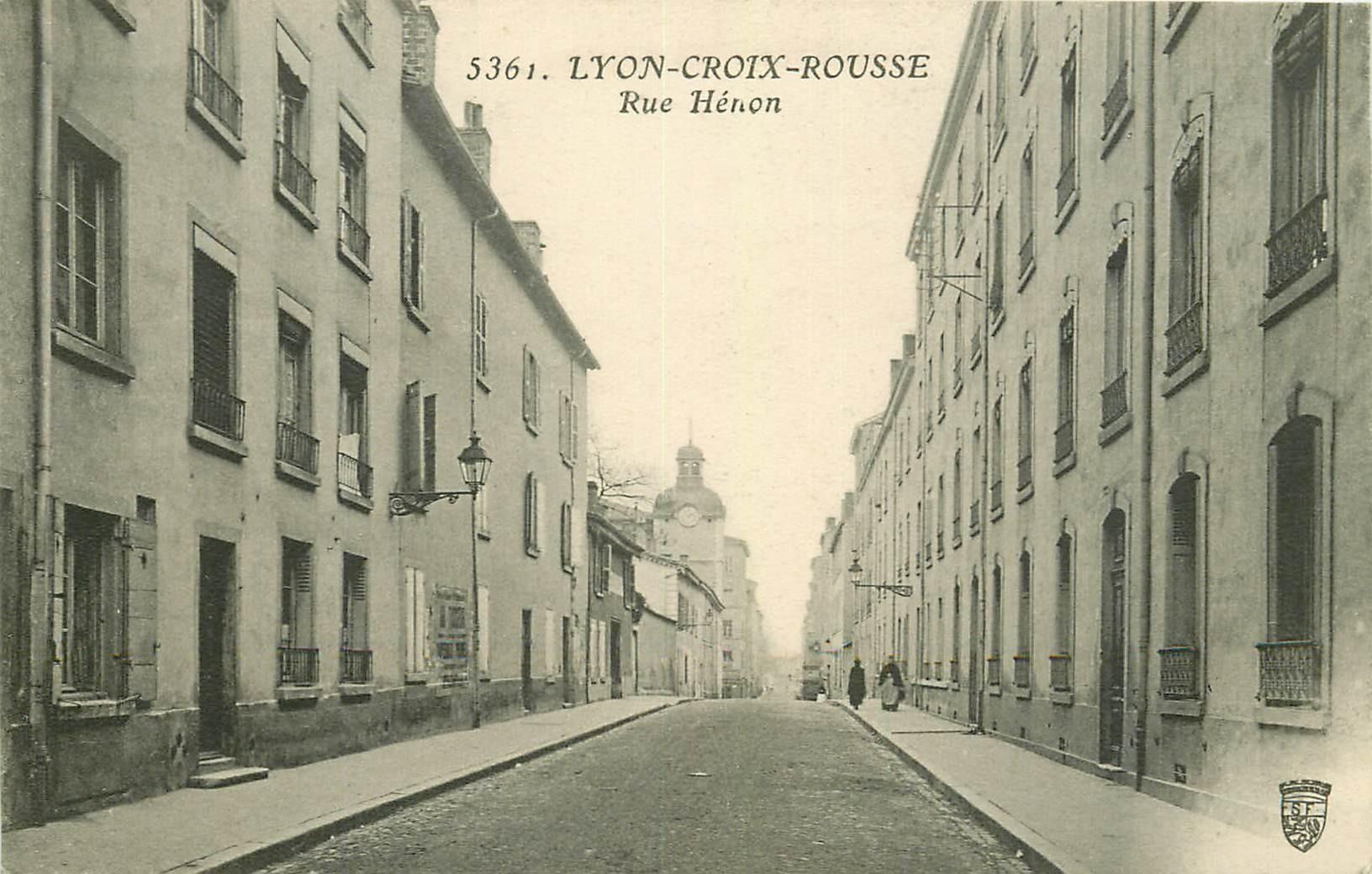 69 LYON-CROIX-ROUSSE. Rue Hénon