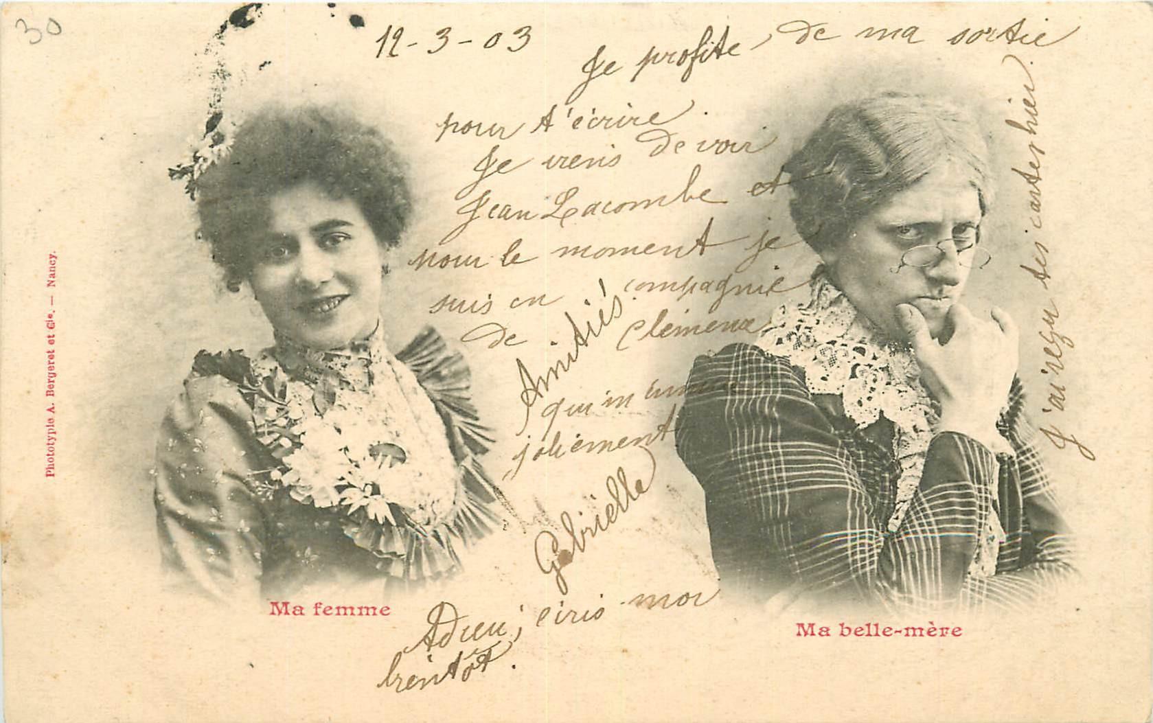 Illustrateur Bergeret. Ma Femme et ma Belle-Mère 1903
