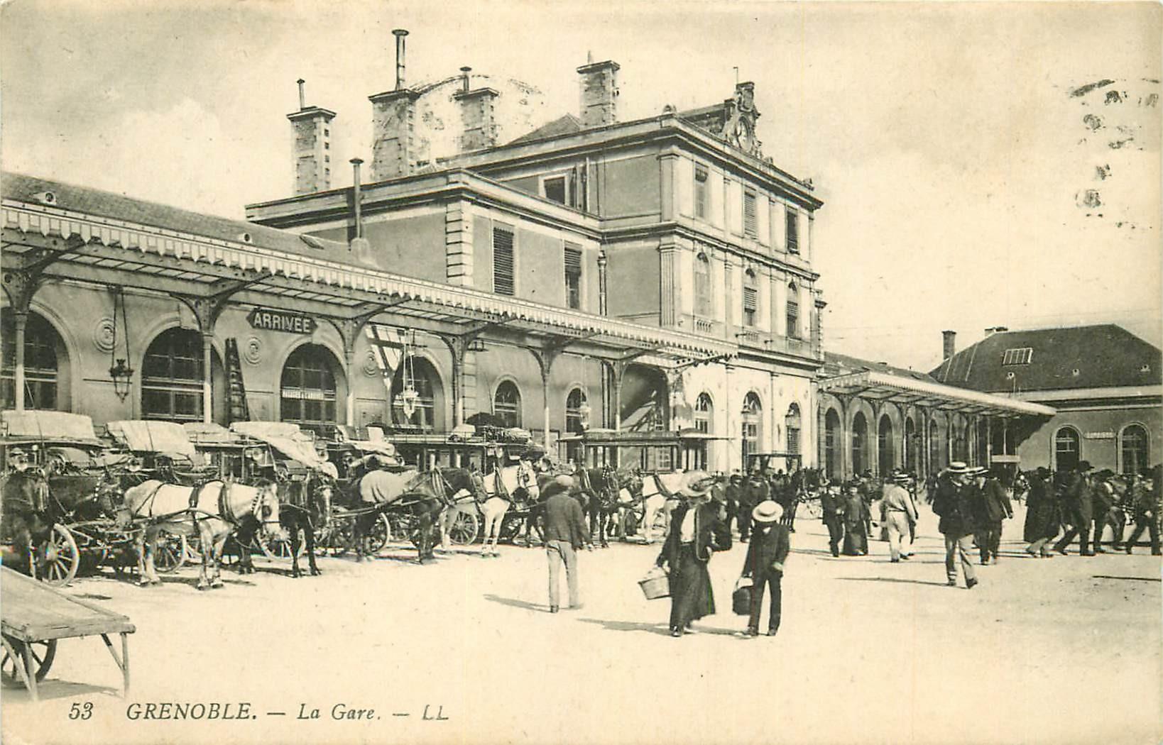 38 GRENOBLE. La Gare 1912