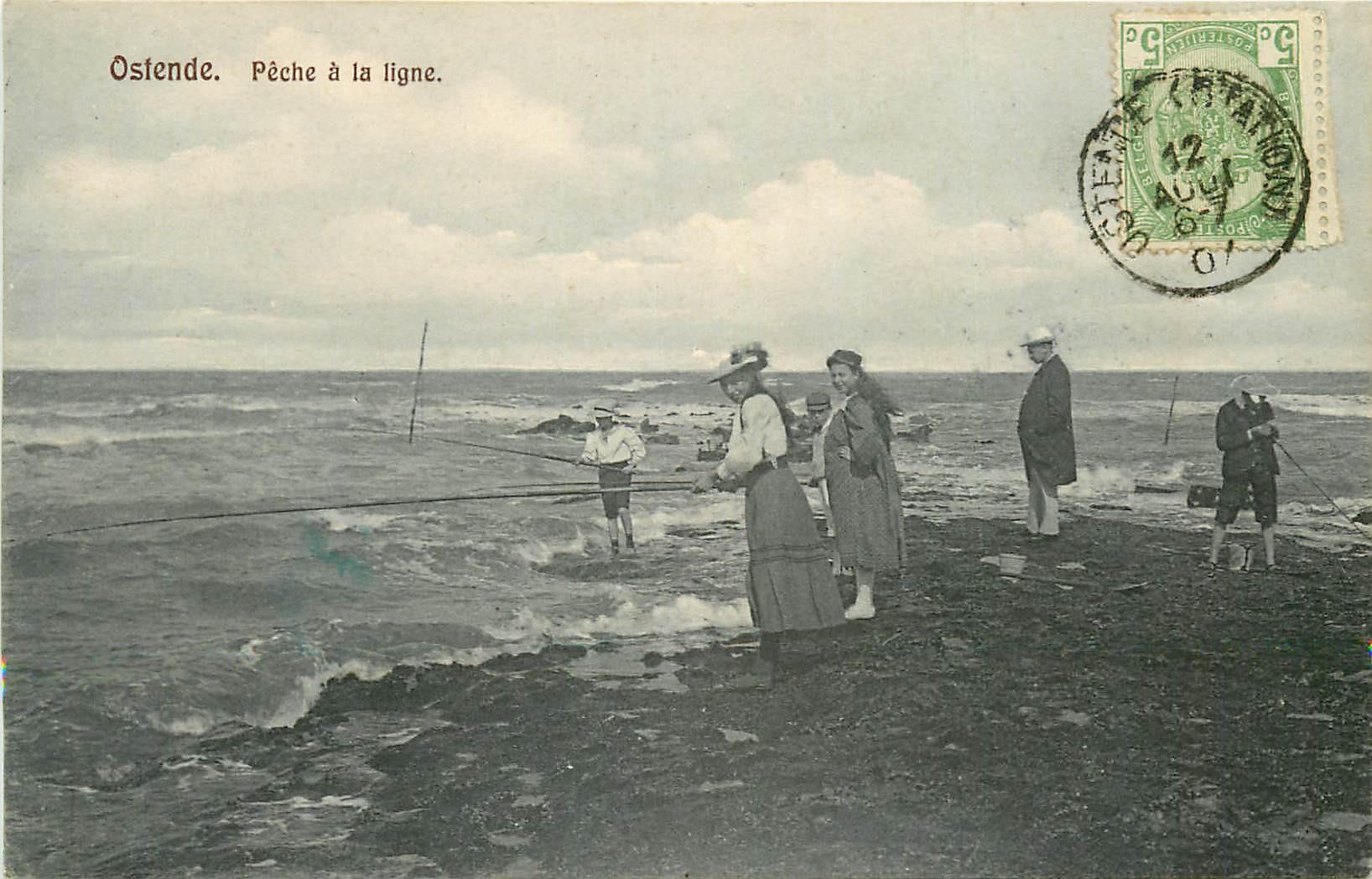 OSTENDE. Pêche à la ligne 1907