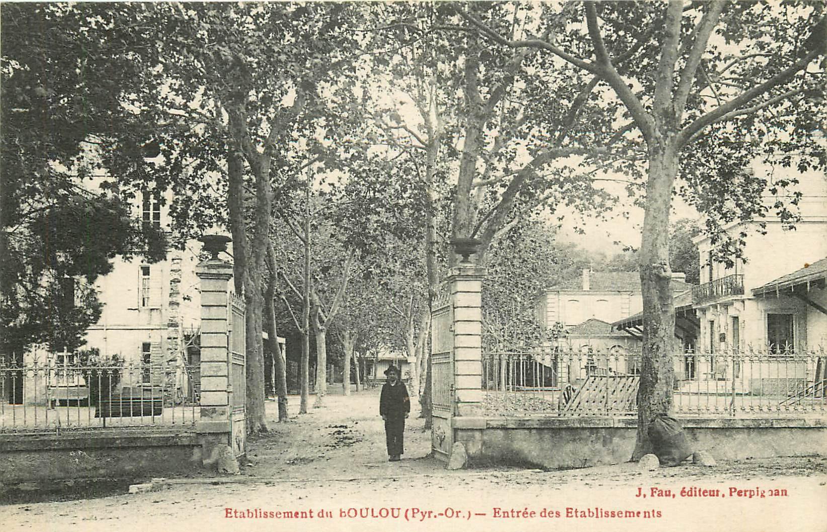 66 LE BOULOU. Entrée des Etablissements 1919