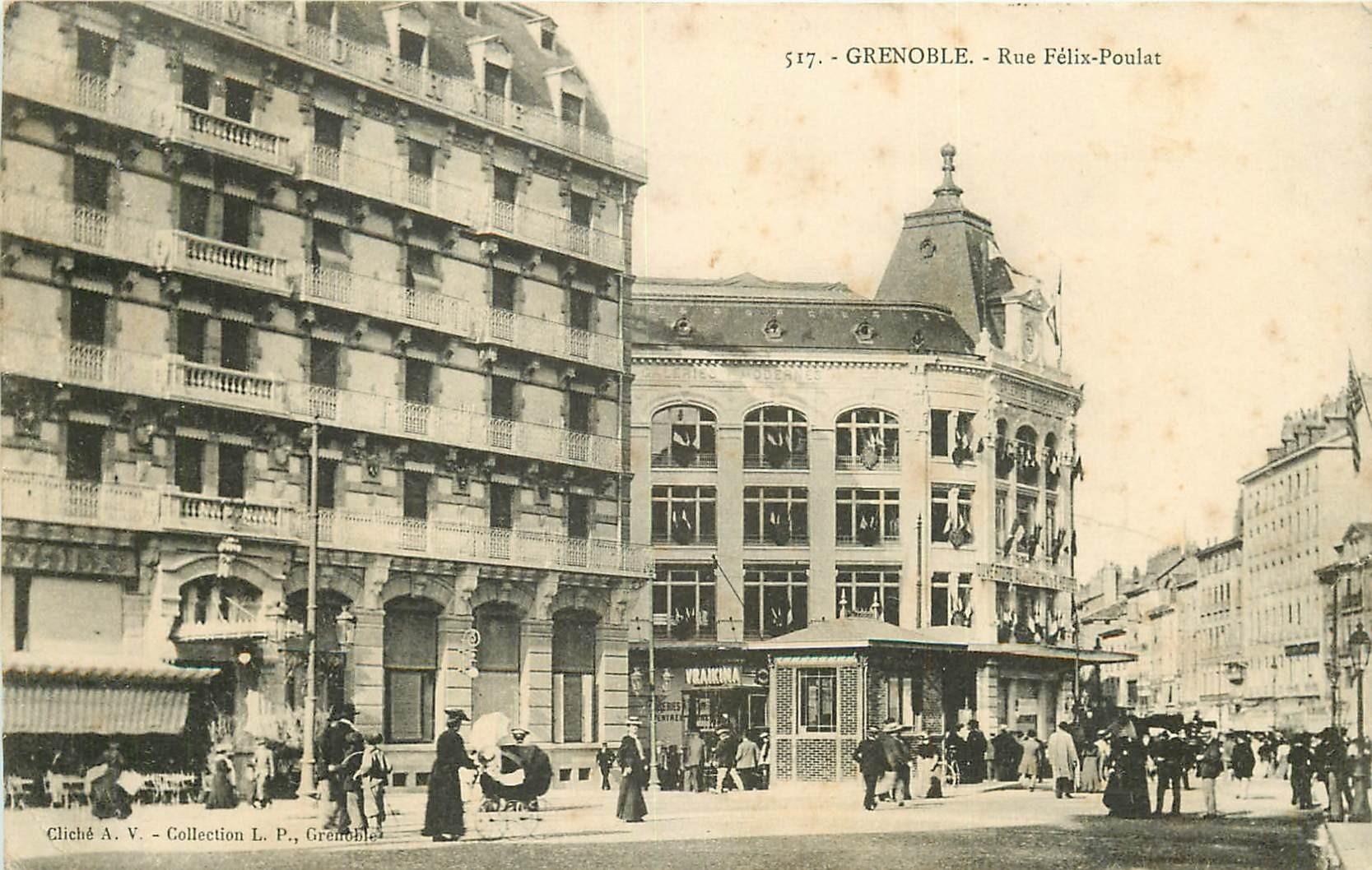38 GRENOBLE. Rue Félix-Poulat 1906