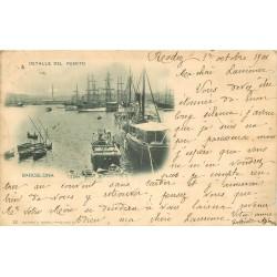 BARCELONA. Detalle del Puerto 1901