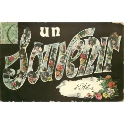 Un Souvenir d'Ath jeunes filles et fleurs 1908