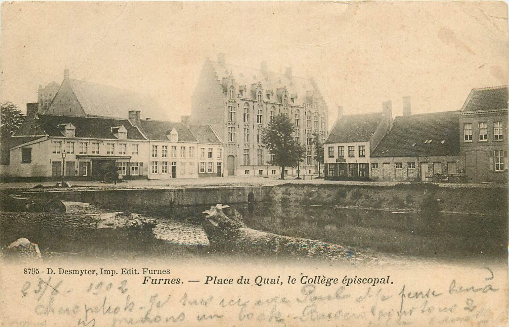 FURNES. Collège Place du Quai 1903 en Belgique