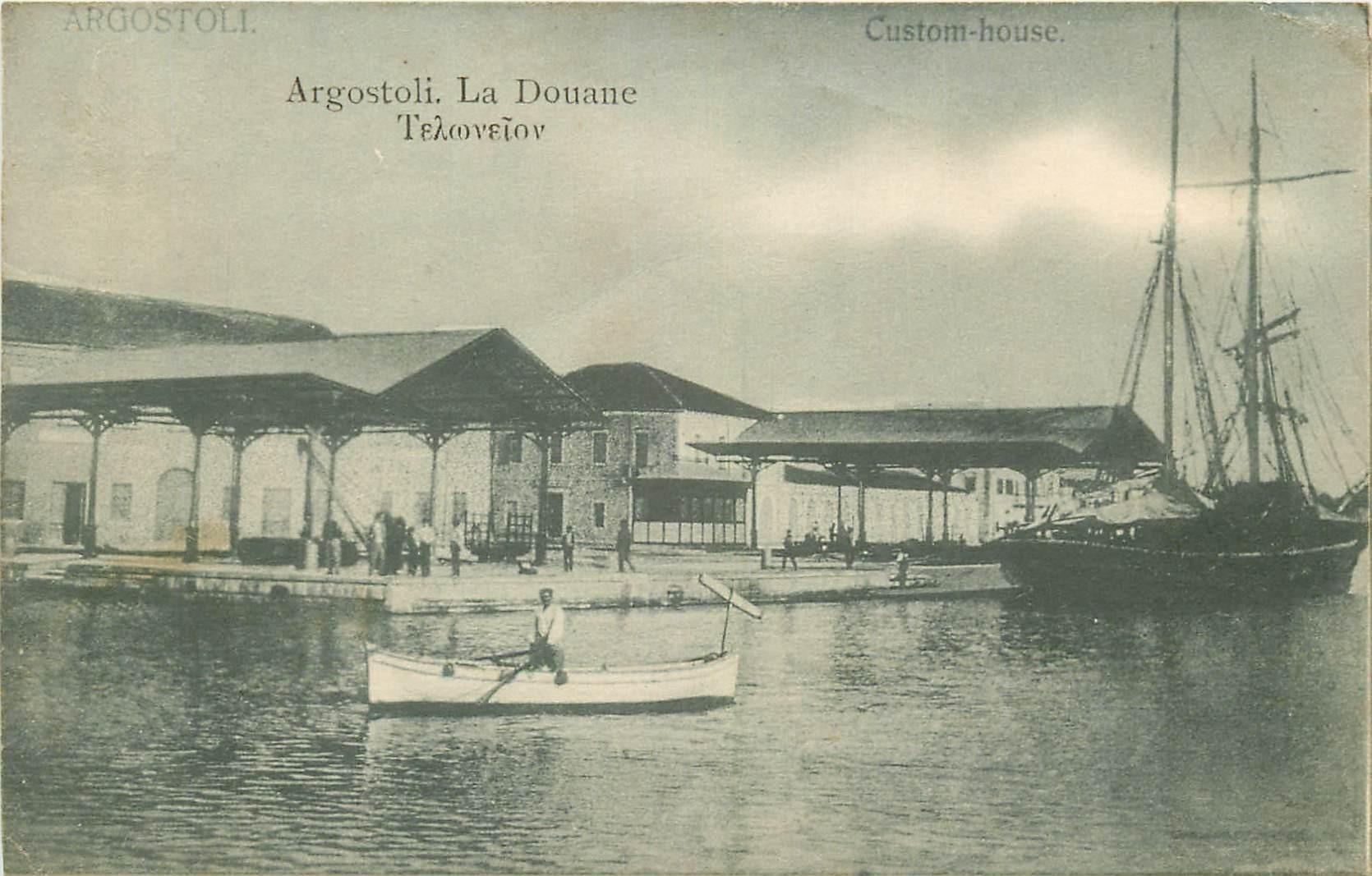 ARGOSTOLI. La Douane en Grèce 1916