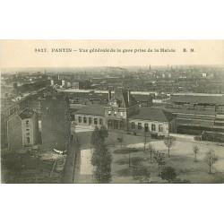 93 PANTIN. La Gare et les Quais vus de la Mairie