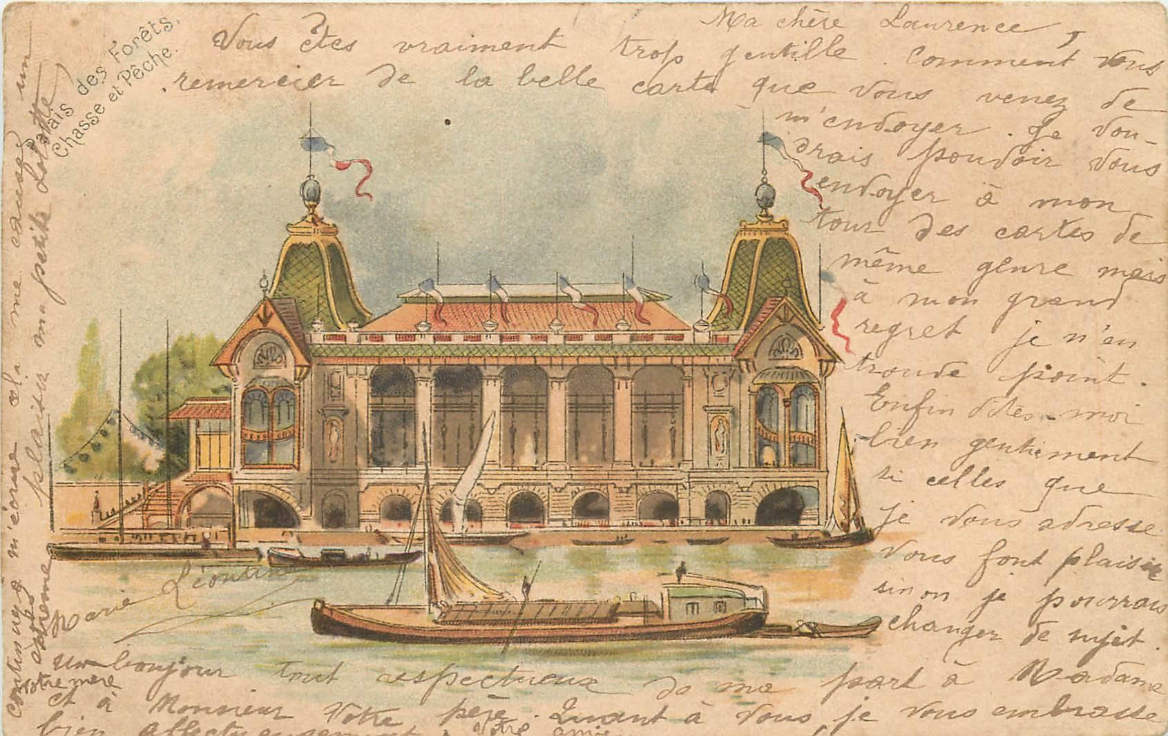 PARIS. Exposition Universelle de 1900. Palais des Forêts Chasse et Pêche