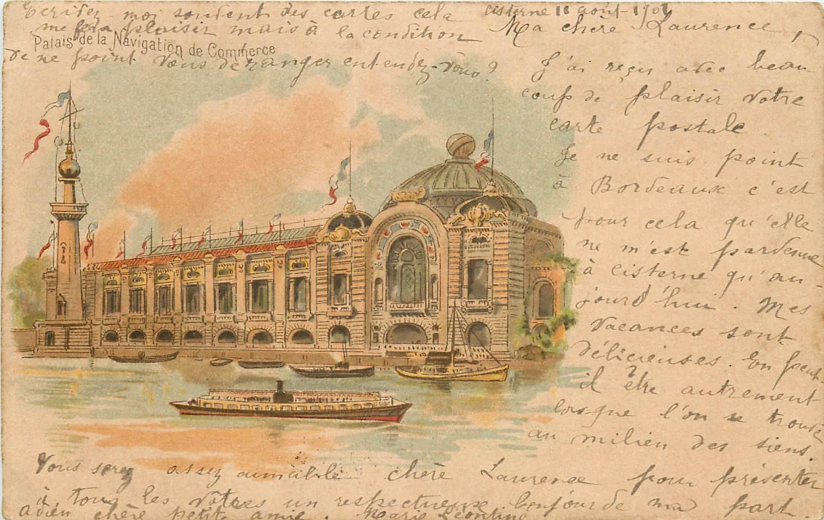 PARIS. Exposition Universelle de 1900. Palais de la Navigation de Commerce